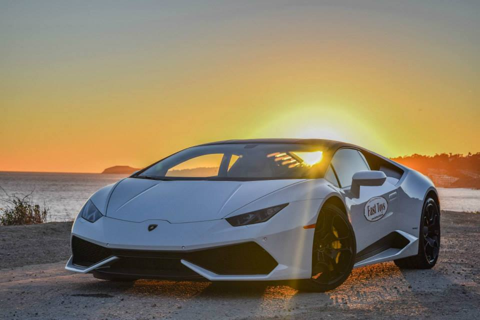 Your Lamborghini Huracan And Blonde Model Fantasy Photos