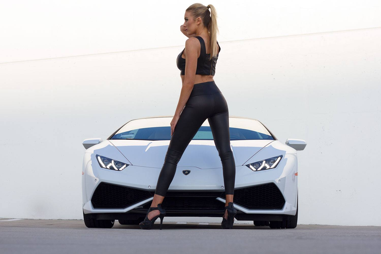 Your Lamborghini Huracan And Blonde Model Fantasy Photos