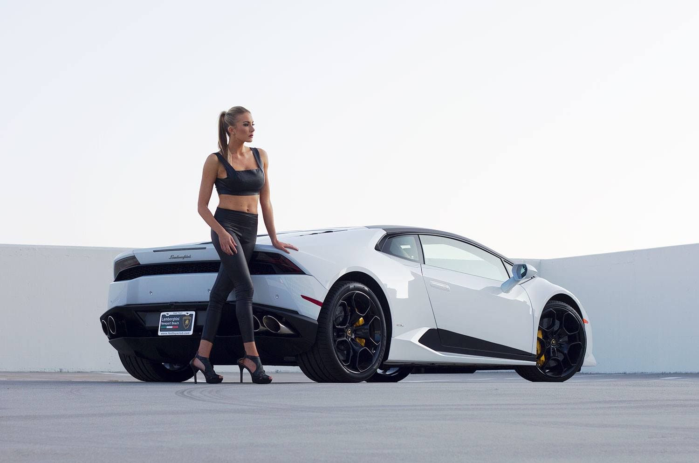 Your Lamborghini Huracan and Blonde Model Fantasy Photos ...