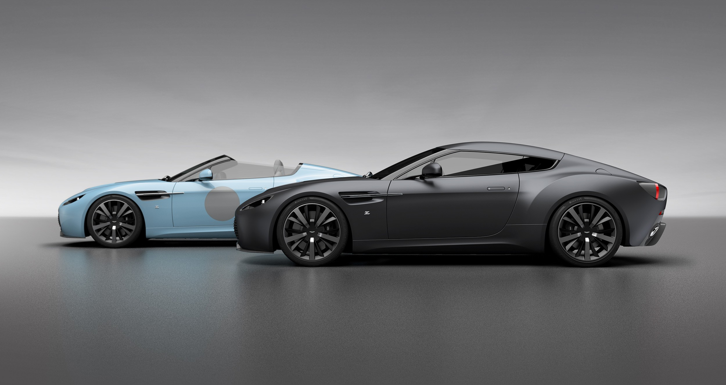 zagato celebrates 100th anniversary with aston martin v12 vantage twins autoevolution. Black Bedroom Furniture Sets. Home Design Ideas
