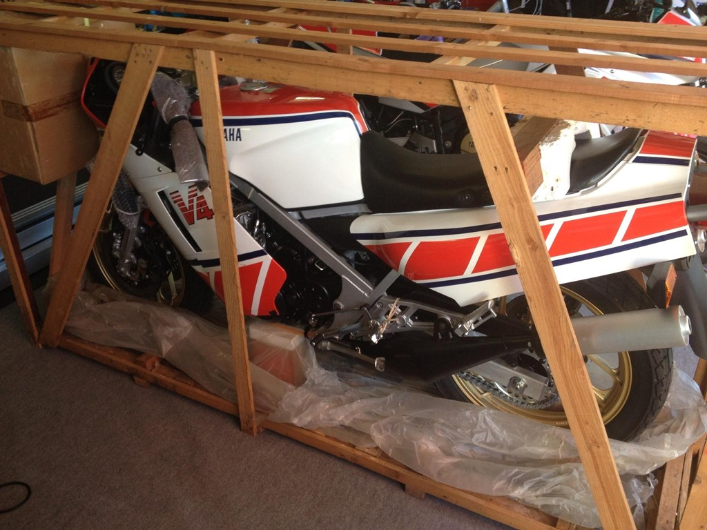 Zero miles 1985 yamaha rz500n in a crate for sale for Newspaper wallpaper for sale