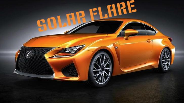Game Over: Lexus RC F's New Orange Color Gets a Name - autoevolution