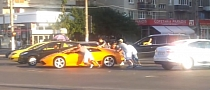Gas-Starved Lamborghini Pushed in Romania [Video]