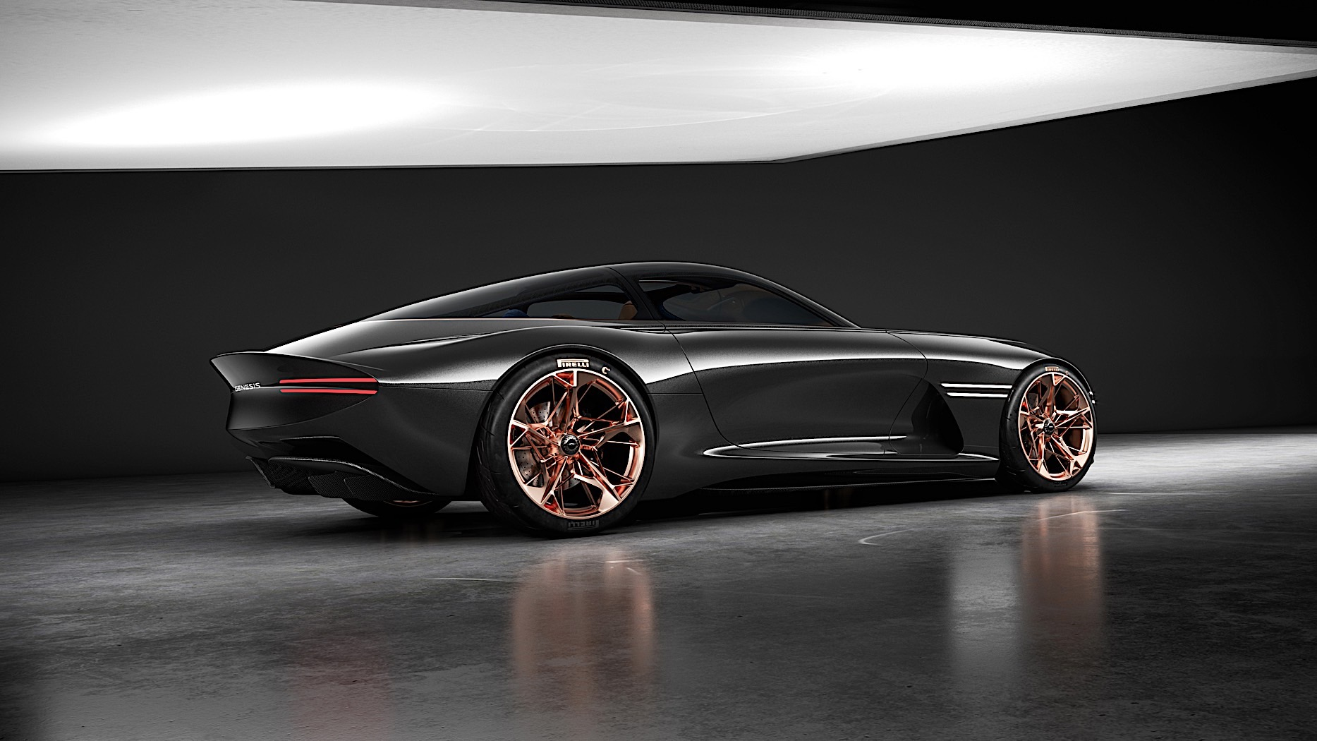 Genesis Essentia electric coupe concept revealed at NY