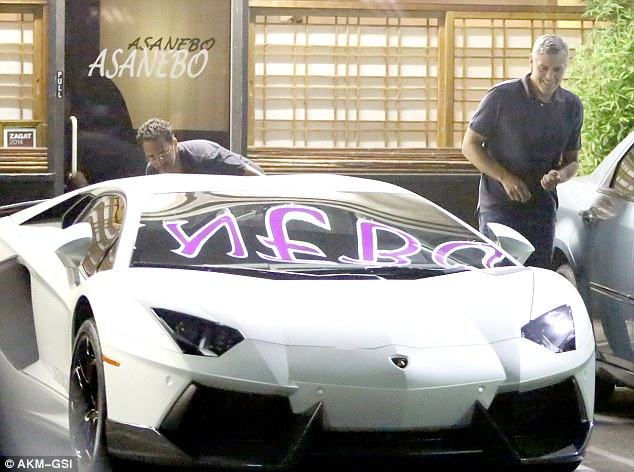 George Clooney Checks Out A Lamborghini Preparing For The Wedding Autoevolution