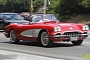 George Clooney Spotted in Stunning Red C1 Corvette