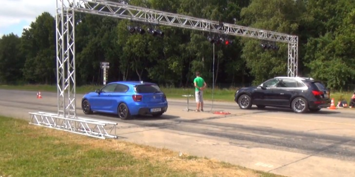 German Drag Race: BMW M135i vs Audi SQ5 [Video]