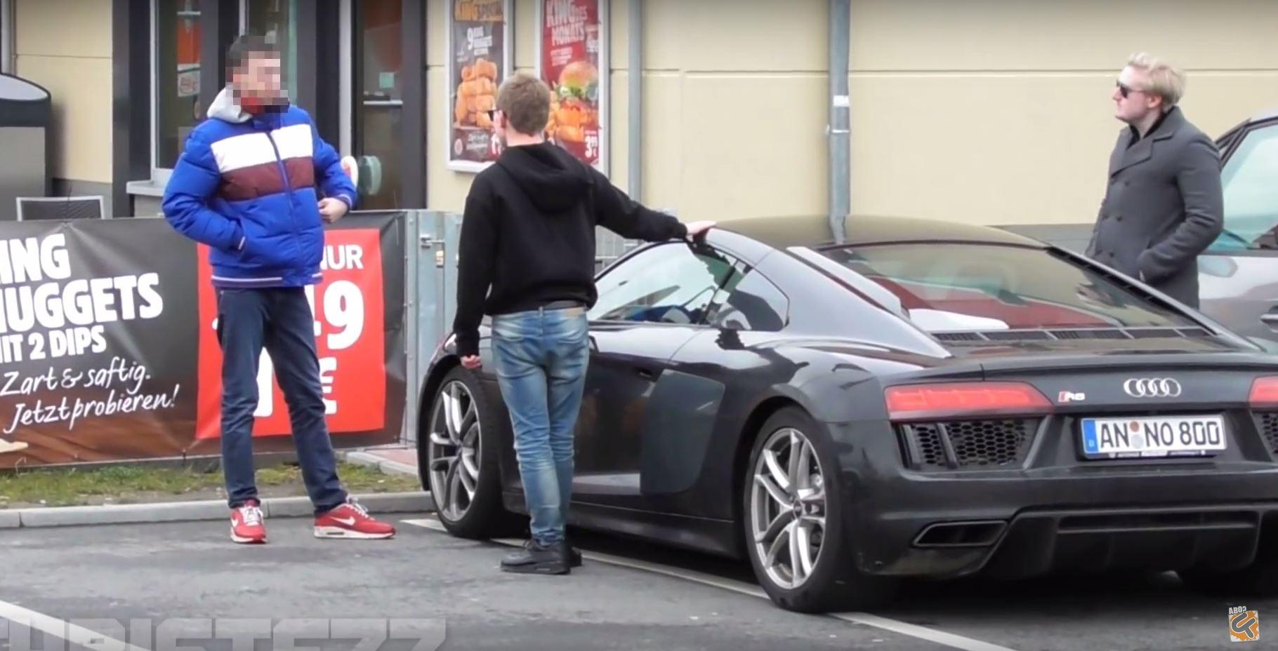 Car gold digger prank celebrity