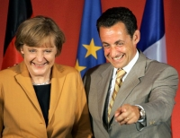 Sarkozy should be happy, as most of Germany's scrapp incentive money goes to France