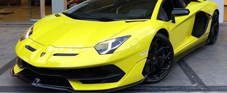 Giallo Tenerife Lamborghini Aventador SVJ Looks Like A