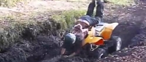 Girl Sticks ATV in Mud, Faceplant Follows [Video]