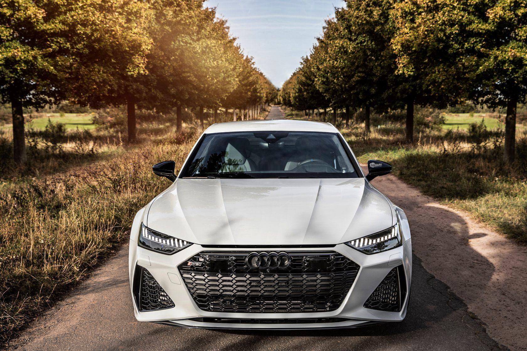 Glacier White 2020 Audi Rs7 Sportback Has Stormtrooper Looks Autoevolution