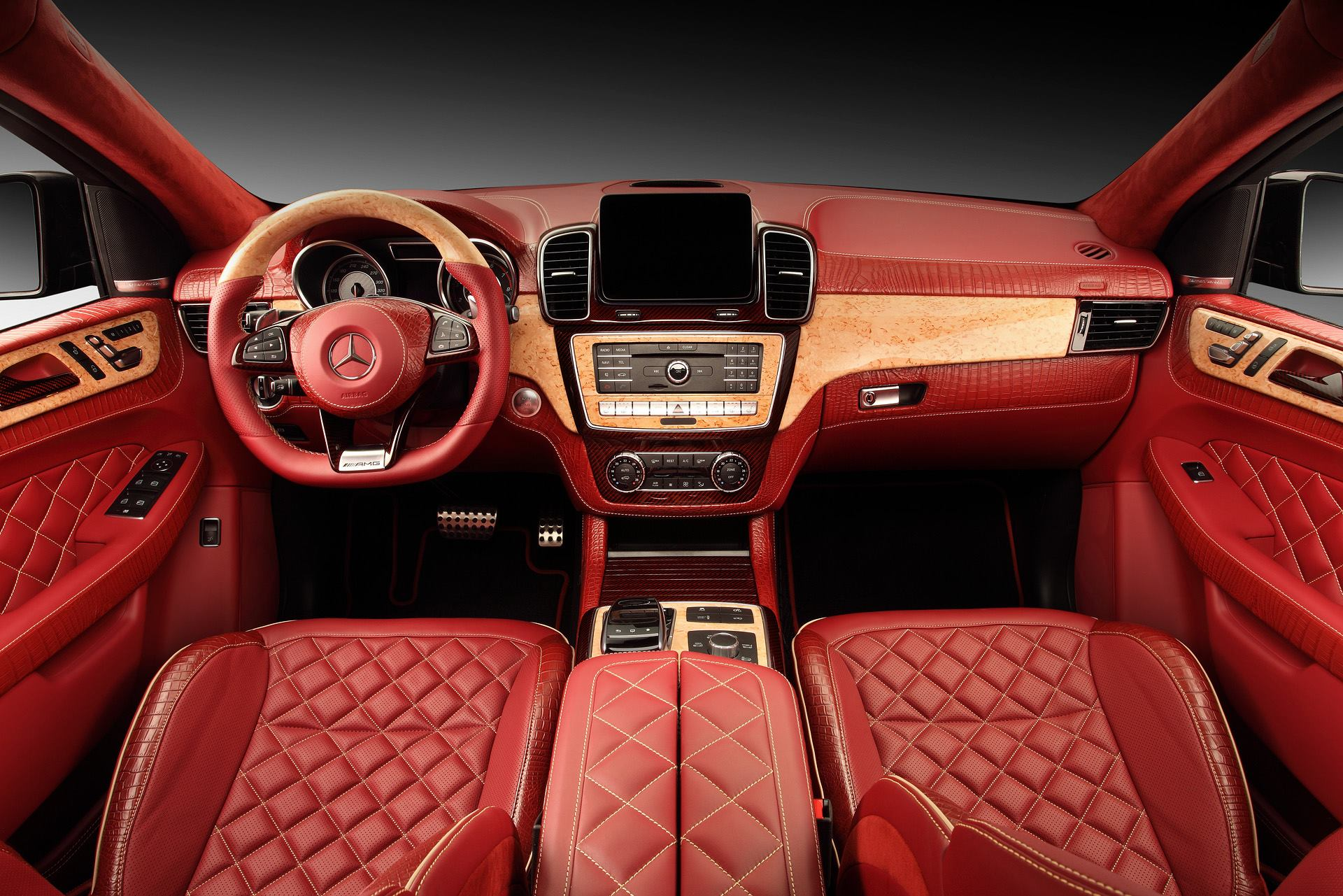 gle coupe gets red carbon and crocodile leather interior autoevolution. Black Bedroom Furniture Sets. Home Design Ideas