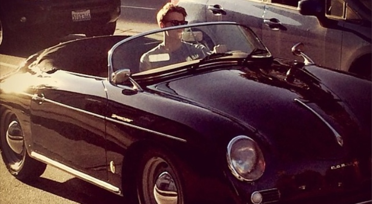 Quot Glee Quot Star Chord Overstreet Looks Cool In Porsche 356