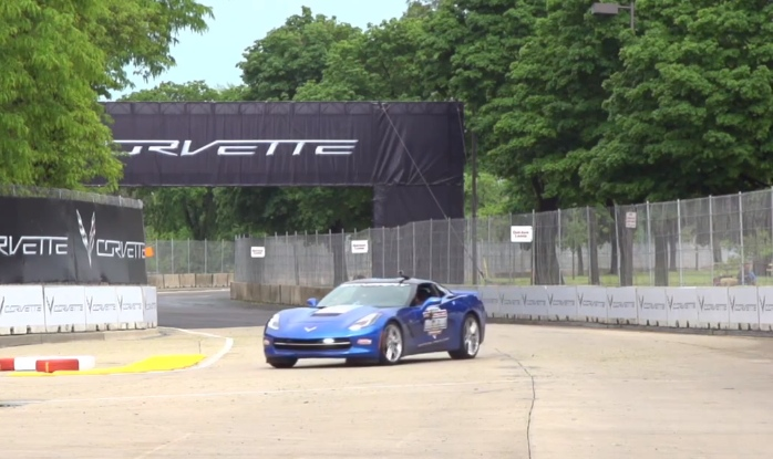 GM President Mark Reuss Drives the 2014 Corvette Stingray Pace Car [Video]
