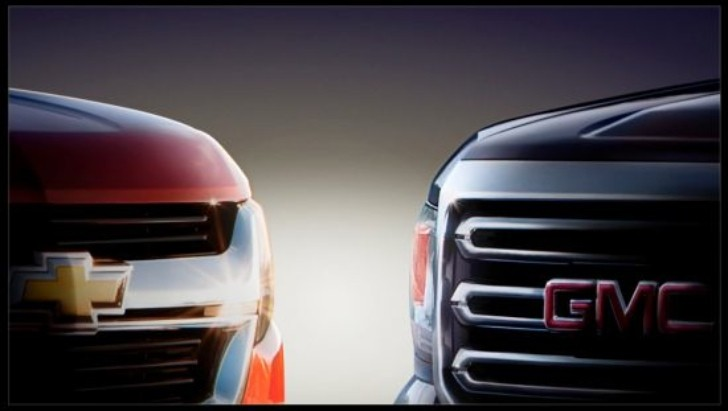 GM Teases New Chevrolet Colorado, GMC Canyon Trucks