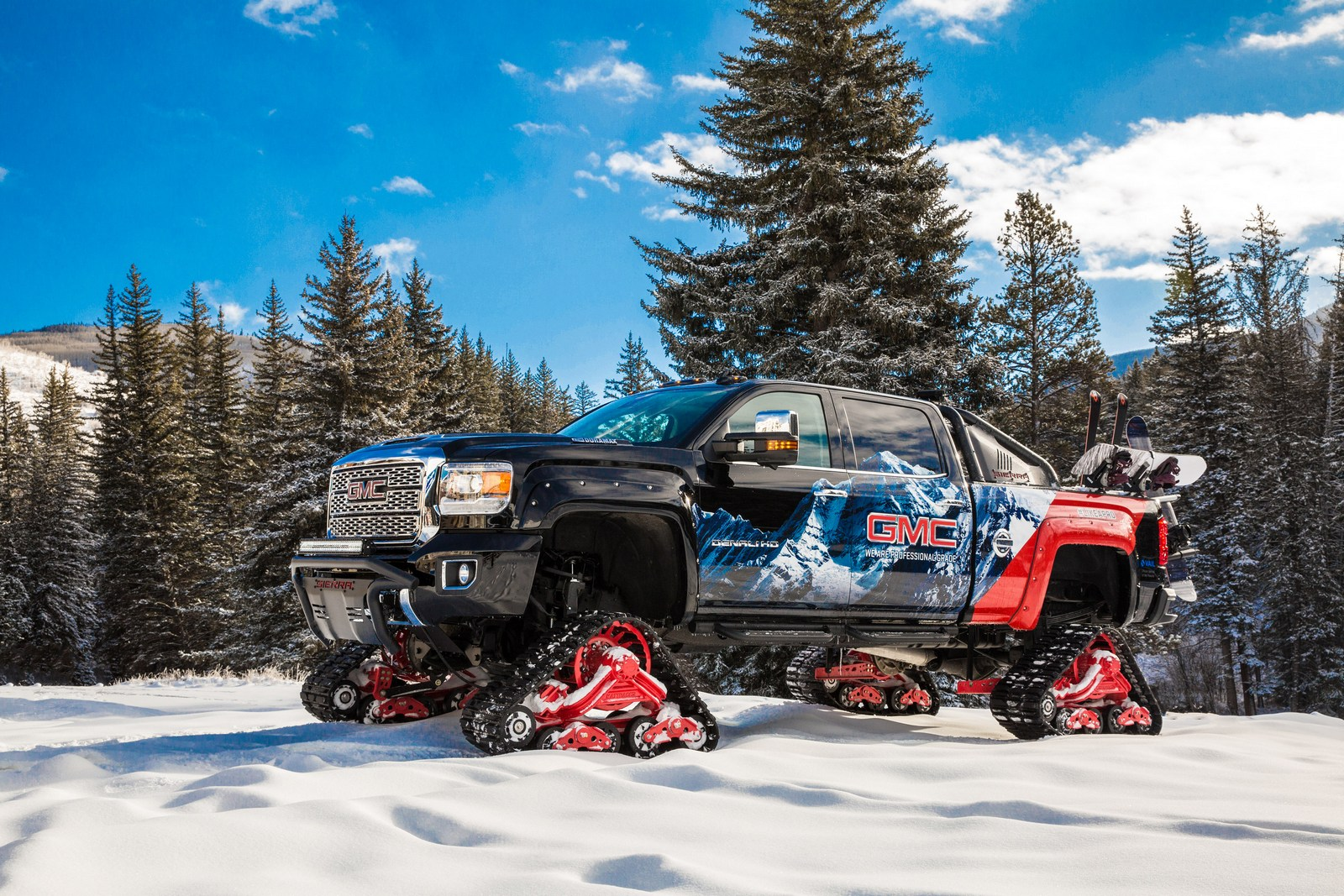 2018 GMC Sierra HD Takes On Snow-covered Mountains With ...