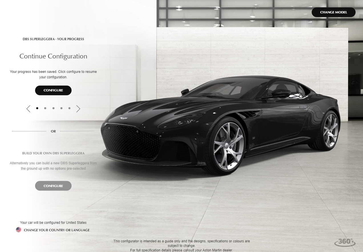 Go Configure The Aston Martin DBS Superleggera Of Your Dreams - Build your own aston martin