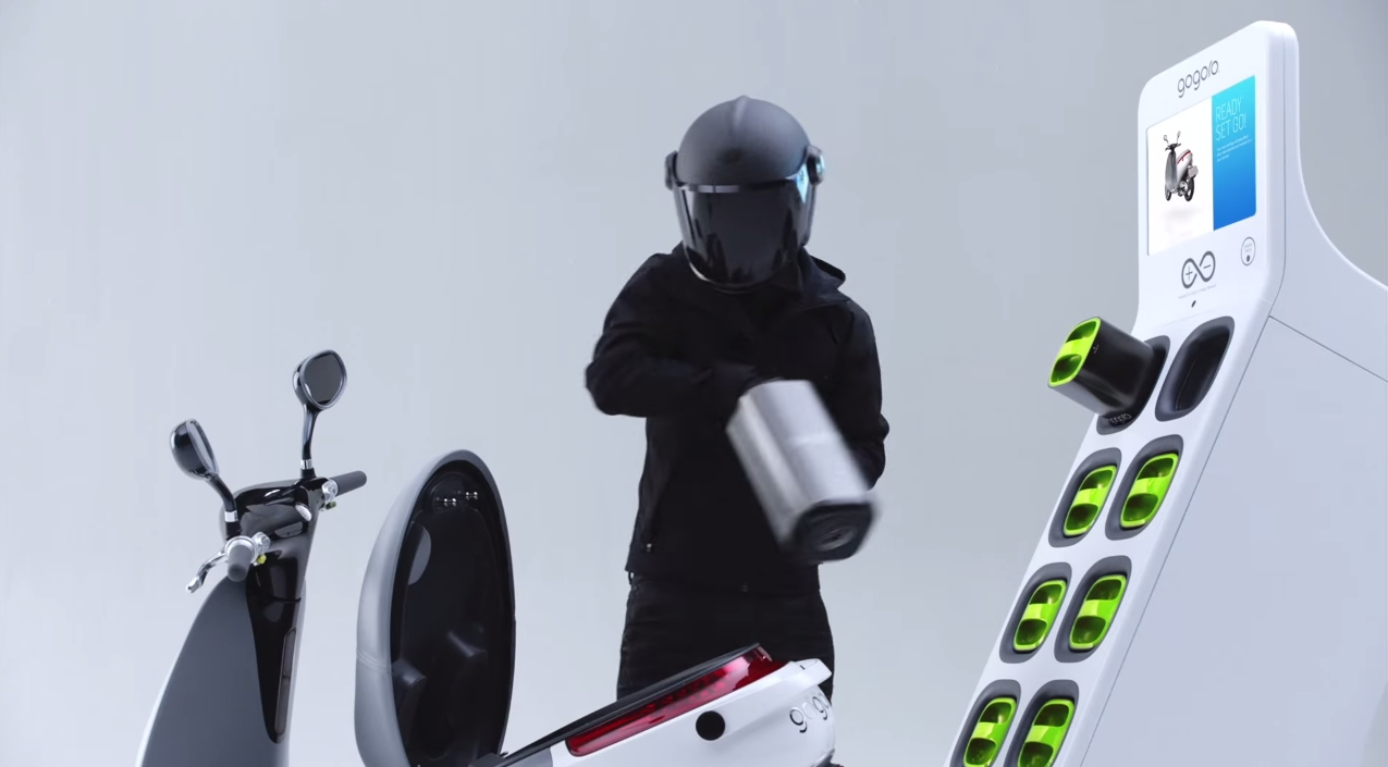 Gogoro Electric Scooter Offers Easy Fast Battery Swap