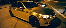 Gold BMW M5 in Russia [Video]