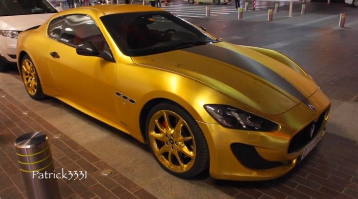 Gold Maserati Sports Swarovski Bling In Dubai Autoevolution