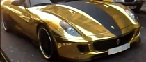 Gold Plated Ferrari 599 GTB Fiorano Roars on the Streets of London [Video]