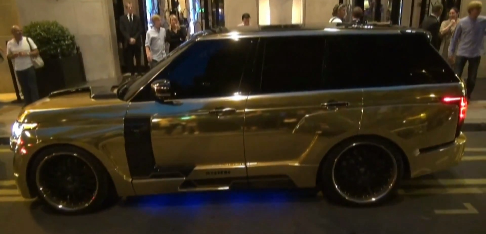 Gold Range Rover With Hamann Mystere Kit Spotted