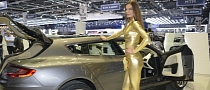 Goldfinger Girl Promotes Aston-Bertone Estate in Geneva [Video] [Live Photos]