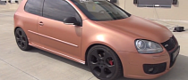 Golf 5 GTI Gets Copper Metallic Plasti Dip [Video]