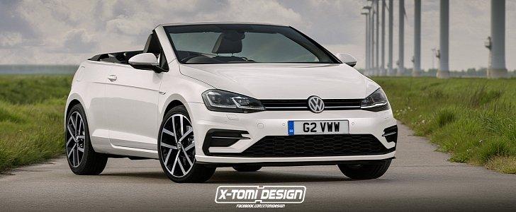 golf 7 5 cabriolet rendering joins the vw facelift party. Black Bedroom Furniture Sets. Home Design Ideas