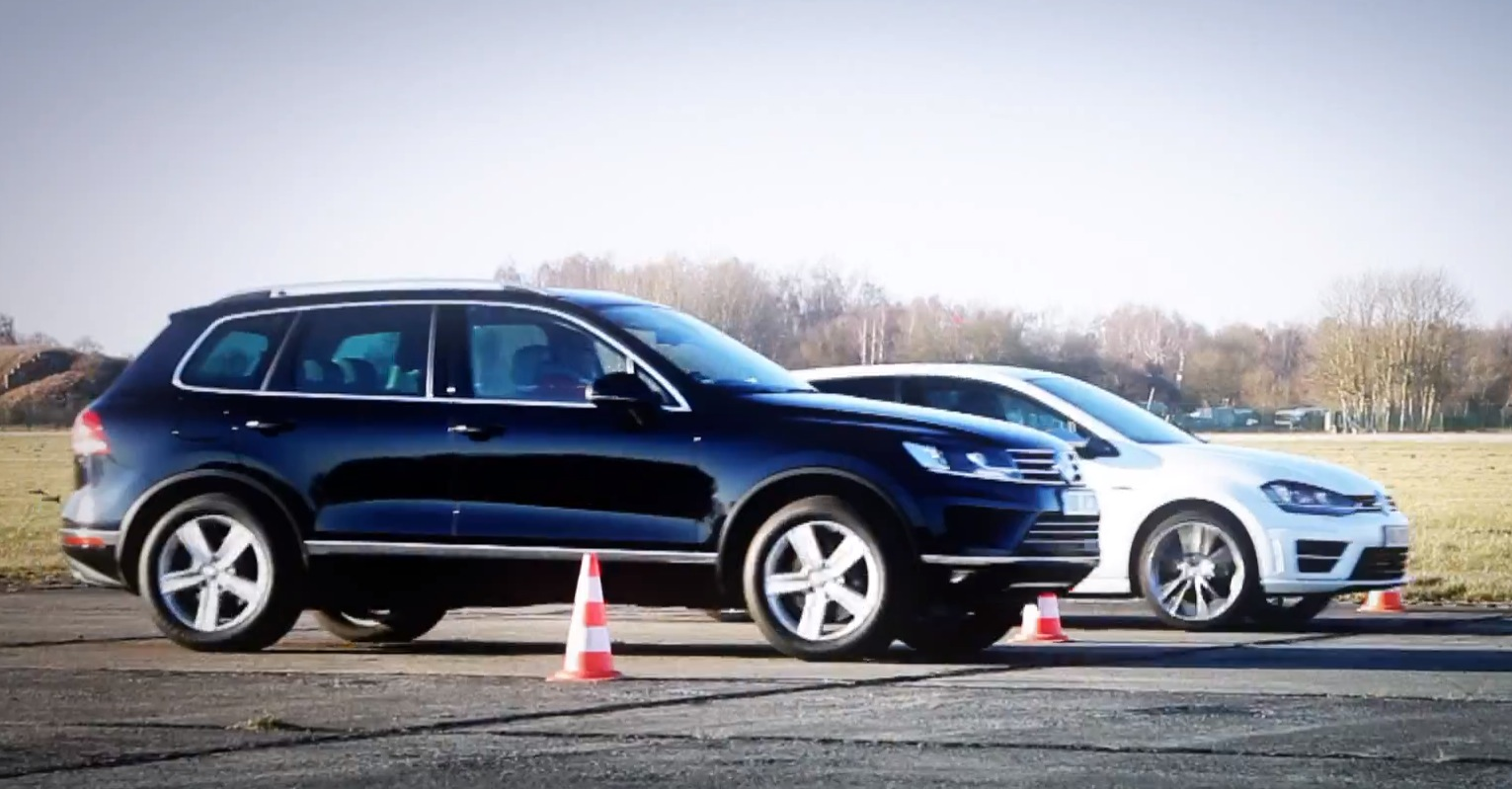Golf R vs Touareg V8 TDI Drag Race Is Closer Than You Think - autoevolution