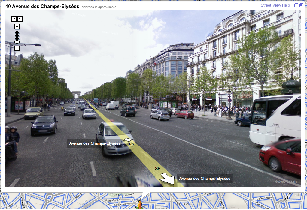 google street view reaches france autoevolution. Black Bedroom Furniture Sets. Home Design Ideas