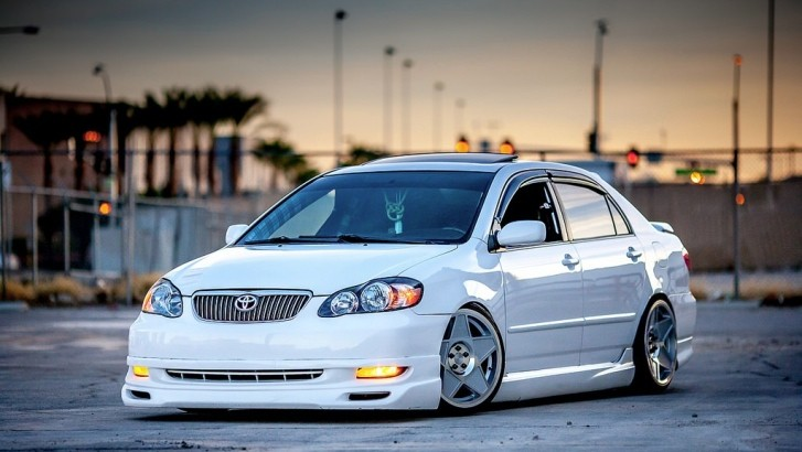 Grandmas Stanced Toyota Corolla Really Stands Out The Crowd