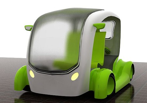 Green Cab All-Electric Concept Taxi Revealed - autoevolution