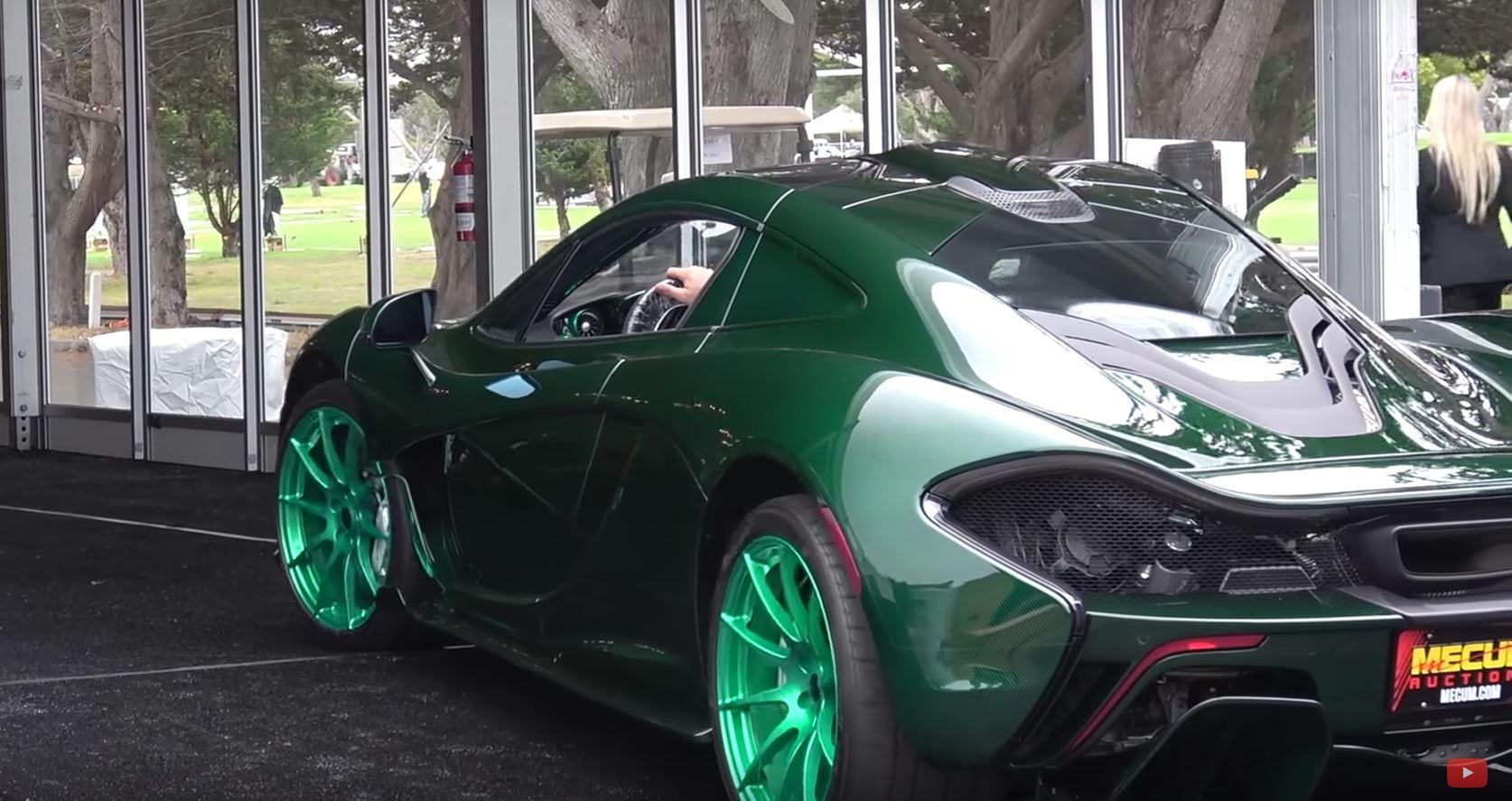 Green Carbon McLaren P1 Arrives at Mecum Auction, Looks Insane ...