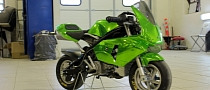 Green Chrome Wrap for Pocket Bikes and More