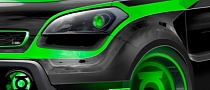 Green Lantern Kia Soul at 2012 SEMA