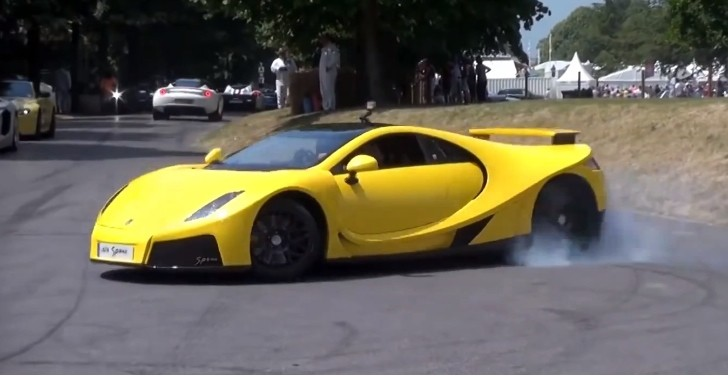 GTA Spano Donuts and Burnout at Goodwood [Video]