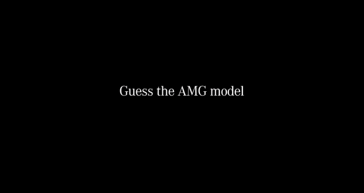 Guess What AMG Model Sounds Like This [Video]