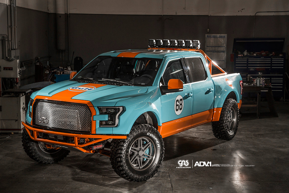 2016 Ford F150 Lifted >> Gulf 2016 Ford F-150 Has Gulf Livery and ADV.1 Wheels ...
