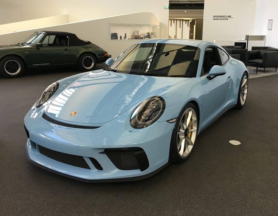 Gulf Blue 2018 Porsche 911 Gt3 Touring Package Is A Modern