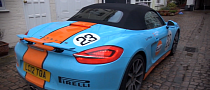 GULF Racing Aston V12 Vantage and Porsche Boxster S [Video]