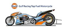 Gulf Racing Top Fuel Drag Bike Previewed