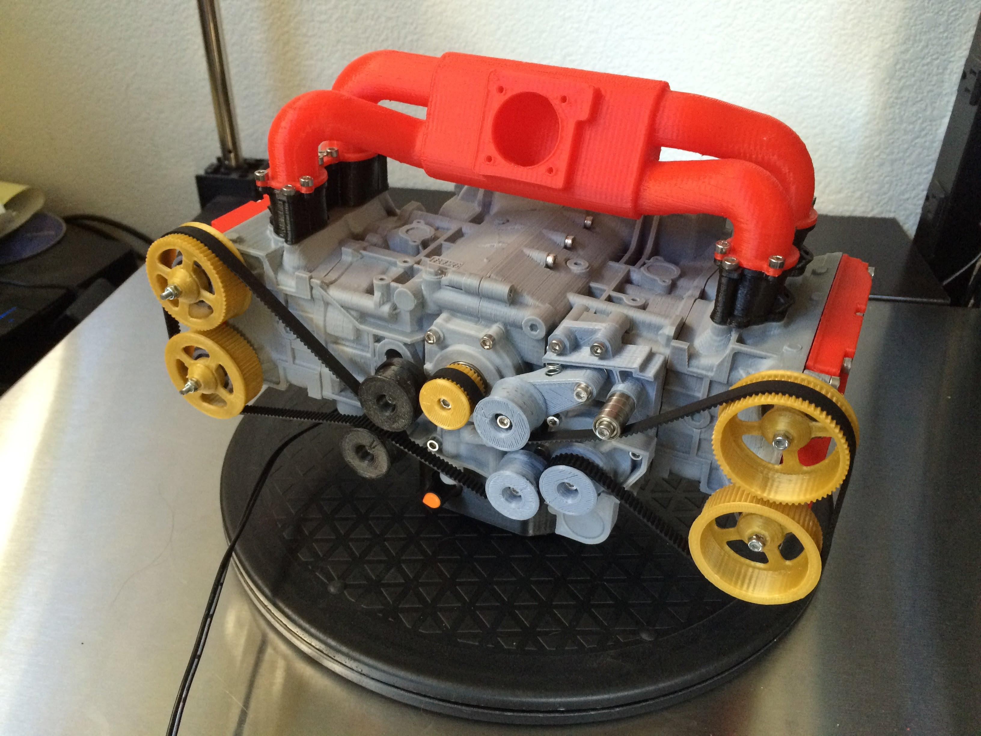 Guy Builds 3D Printed Subaru EJ20 Boxer Engine That Works ...