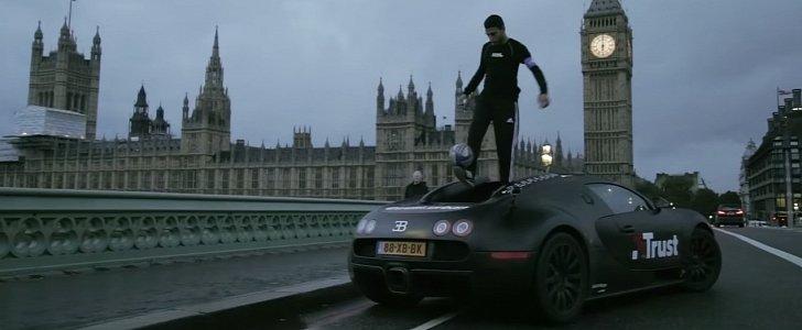 My Pittsburgh Steeler Themed Bugatti Veyron: Guy Doing Football Freestyle Tricks On Bugatti Veyron