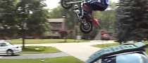 Guy Jumps Pocket Bike over Car, Ends in Funny Crash[Video]