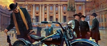 Harley-Davidson and the Vatican Art by David Uhl
