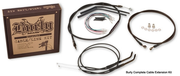 Harley-Davidson Softail and Dyna Ape Hanger Cable/Line Kits