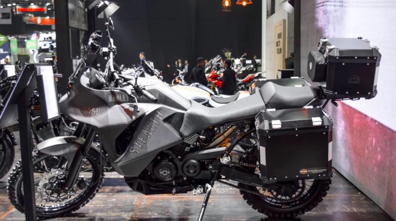 harley davidson 750 stealth adventure bike breaks cover in. Black Bedroom Furniture Sets. Home Design Ideas