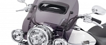 Harley-Davidson Wind Splitter Windshield Looks A Bit Awkward